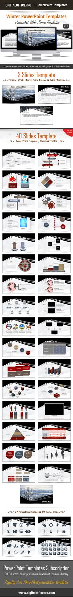Mainboard PowerPoint Template Backgrounds - winter powerpoint template