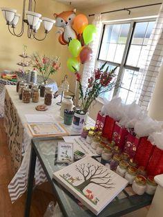 Thumb Prints, Woodland Baby, Bath Salts, Party Favors, Mason Jars, Baby Shower, Table Decorations, Home Decor, Bath Scrub