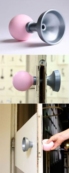 For those who prefer manual devices doorknob+doorbell