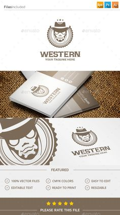 Cowboy Logo — Photoshop PSD #wild #human • Available here → https://graphicriver.net/item/cowboy-logo/11423782?ref=pxcr