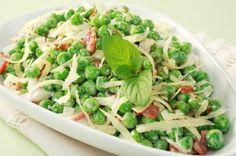 Receta de Ensalada de Chicharos con Jamon y Menta | #receta #ensalada #chícharos #jamón #menta