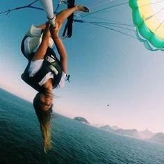 Upside down parasailing