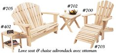 1000 images about adirondack life style on pinterest - Chaise adirondack france ...