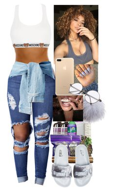 """""""Fashion game A1"""" by genevieve-an ❤ liked on Polyvore featuring Puma, Dena and Moschino"""