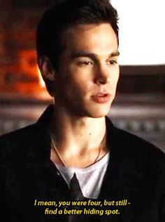 GIPHY is your top source for the best & newest GIFs & Animated Stickers online. Find everything from funny GIFs, reaction GIFs, unique GIFs and more. Chris Wood, Kai Parker, Tvd Kai, Tvd Quotes, Vampire Diaries Wallpaper, Hello Brother, Daniel Sharman, Original Vampire, Wattpad Stories