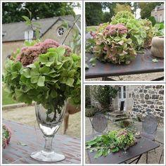 Bouquet d'Automne , www.chambresaumanoir.com Villeneuve, Table Decorations, Plants, Furniture, Home Decor, Fall Bouquets, The Mansion, Decoration Home, Room Decor