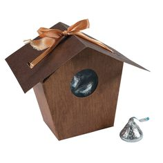 Bird House Favor Boxes - OrientalTrading.com  for the kids at the party