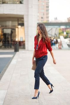 Navy and red outfit ideas. From everythingyoulovetohate.us