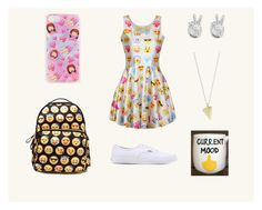 """""""Too much Emoji...?"""" by skylarev32 on Polyvore featuring Rock 'N Rose and Vans"""