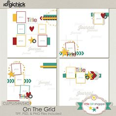 Template: On The Grid By: Little Bit Shoppe