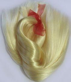 Doll Hair Lemon Blonde Extralong 16-18 by Treasuresdolls on Etsy