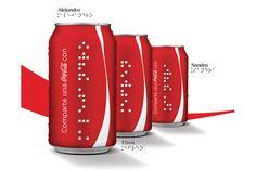 Coca-Cola lança latinhas para deficientes visuais - têm os nomes escritos em braile - Blue Bus