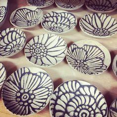 豆皿作り大祭中! #豆皿 #器 #potter #ceramic #pottery #tableware #辻本喜代美#アトリエ陶喜