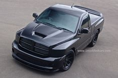 Dodge Ram SRT if batman had a truck it would look like this #darkknighttruck