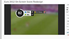 In progress, designer Martin Oberhäuser // On-screen score redesign  Euro 2012