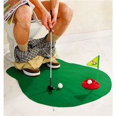 Mini Jogo de Golfe Divertido no Toilete: Jogos Engraçados e Coisas Criativas de Presente. - Presentes Criativos e Decoração Criativa de Sala e Quarto - Monky Design