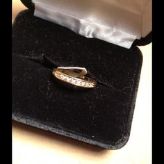 """14k gold band """"can be size"""" Real gold ..real diamonds .25ctw perfect to wear with a solitaire ... Jewelry Rings"""