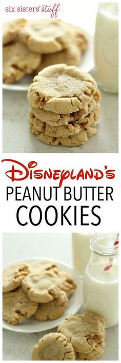 Disneyland's Peanut Butter Cookies from SixSistersStuff Thick, chewy, filled with peanut butter chips, and so, so soft like any perfect bakery cookie should be! These Disneyland bakery copy-cat cookies are to die for! Butter Cookies Recipe, Yummy Cookies, Yummy Treats, Delicious Desserts, Crisco Cookies, Sweet Treats, Peanut Butter Chips, Peanut Butter Recipes, Soft Peanut Butter Cookies