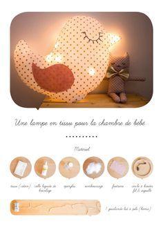 Lampe en tissu