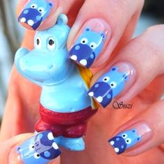 Hippo nails!  #cutenails #nailart #nails