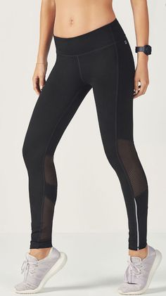 11624b6a27be9 Keep it breezy from back to front in our mesh-paneled leggings with  reflective trim