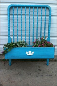 I'm always looking for ways to reuse things – especially old furniture. I'm also always looking for creative ways to spruce up my backyard and flower garden. Old Furniture, Repurposed Furniture, Rustic Furniture, Painted Furniture, Furniture Ideas, Cane Furniture, Furniture Dolly, Furniture Refinishing, Furniture Stores