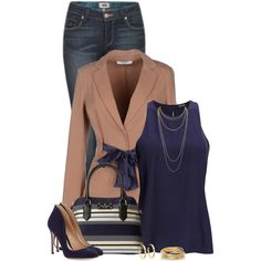 Untitled #596 by houston555-396 on Polyvore featuring moda, 2nd Day, LIU•JO, Paige Denim, Gianvito Rossi, Kate Spade, The Limited, Scott Kay and Tory Burch