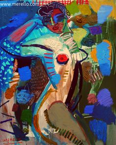 "José Manuel Merello.- ""Desnudo azul"" // ""Blue nude""  (100x81 cm)Técnica Mixta sobre lienzo (2008-2010). Spanish Art. Art Espagnol Contemporain. http://www.merello.com"