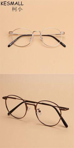 2018 Optical Glasses Metal Frame Women Men Fashion Myopia Eyeglasses Frame  Round Cycle Female Oculos De Grau Gold Eyewear YJ817 1739b70a080a