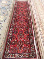 3' x 11' Red Sarouk Runner HAND KNOTTED in IRAN GENUINE PERSIAN RUG