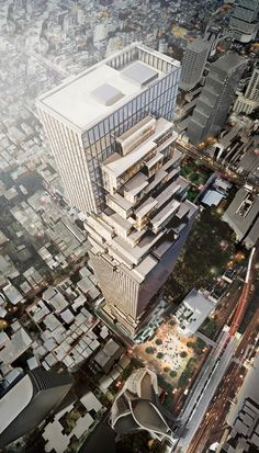 Ole Scheeren design his first skyscraper, entitled MahaNakhon Tower, a dazzling, pixelated tower, to be the tallest building in Bangkok. Architecture Visualization, Architecture Design, Building Architecture, 3d Visualization, Futuristic Architecture, Monuments, Mahanakhon Tower, Voyager Loin, Tower Design