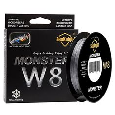 Fishing UK - SeaKnight Monster W8 Braided Lines 8 Strands Weaves 150M/164Yards Super Smooth PE Braided Multifilament Fishing Lines for Sea Fishing 15-100LB