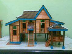 Diy Popsicle Stick Crafts, Popsicle Stick Houses, Miniature Crafts, Miniature Houses, Diy Dollhouse, Dollhouse Miniatures, Fairy Houses, Doll Houses, Glitter Houses