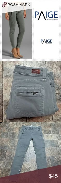"""Paige Marley Moto Skinny 29x29 Paige Marley Moto Skinny size  29, use 29"""", rise 8.5"""", waist laid flat 15"""". Wash Cloud Cover. Great condition. First picture for reference. Paige Jeans Jeans Skinny"""