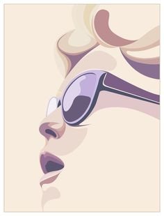Vector Illustration, by Matt Edwards (b. Face Illustration, Portrait Illustration, Graphic Design Illustration, Digital Illustration, Graphic Art, Vector Portrait, Portrait Art, Portraits, Arte Pop