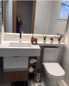 Que banheirinho mais charmoso! ❤️ Autor desconhecido #inspiração #decoraçãodoapê #instadecor #banheiro #lavado #designerdeinteriores #interiordesigner