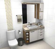 decoração de banheiro pequeno e barato - Pesquisa Google