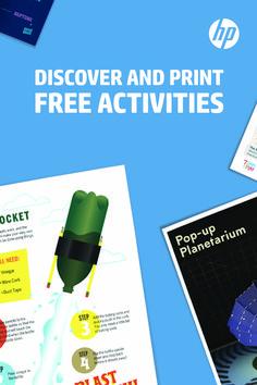 Print hundreds of FREE printable activities from coloring to pop-up science projects on hp.com/printplaylearn Wetenschappelijke Experimenten Kinderen, Wetenschappelijke Activiteiten, Pop Up, Thuisonderwijs, Amor, Gehaakte Baby Laarzen, Zomeractiviteiten, Gezondheidsproducten