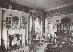 Victorian Drawing Room | Victorian drawing-room, 1890, with William Morris wallpaper and ...