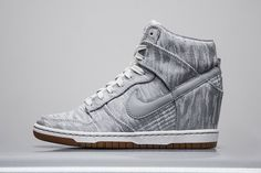 new arrival 87f8e 9d2b3 Nike Dunk High WMNS Satin New Release Tenis Cano, Zapatos, Gris, Nike Air
