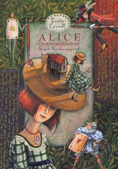 Illustration by Katalin Szegedi to Lewis Carroll's Alice in Wonderland Alice In Wonderland Paintings, Alice In Wonderland Book, Adventures In Wonderland, Lewis Carroll, Alice Book, Acrylic Artwork, Were All Mad Here, Through The Looking Glass, Graphic Illustration