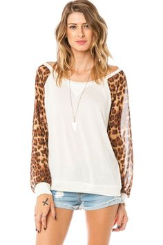 ShopSosie Style : Leopard Play Top