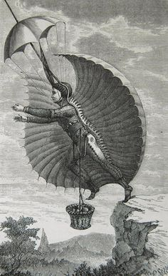 The Flying Man, Scribner's Monthly (Illustrated Magazine For The People), New York, NY, 1871.