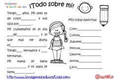 Actividades para los primeros días de clase (6) - Imagenes Educativas Preschool Spanish, Elementary Spanish, Spanish Activities, Spanish Classroom, Teaching Spanish, First Day School, Beginning Of School, Middle School, Back To School