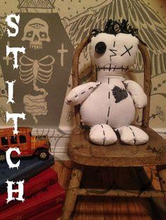 monster doll, doll, handmade doll, handmade monster, hand sewn doll, hand sewn monster, unique doll, gothic doll, gothic monster,black white  https://www.etsy.com/shop/DDSMASCOTMONSTERS https://www.facebook.com/MascotMonsters
