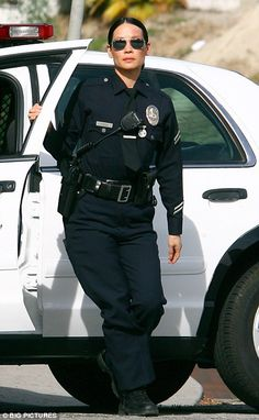 LAPD Female Cop. Good-looking but don't underestimate or disrespect her!  *Yes, I know THIS is an actress playing a female LAPD officer. But, the description still holds true of the REAL female LAPD cops I know.