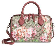 Gucci Small Blooms Top Handle GG Supreme Canvas Bag