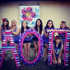Cute AOII letters