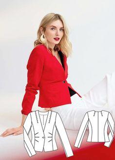 Cropped Blazer Burda Aug 2017 #117A http://www.burdastyle.com/pattern_store/patterns/cropped-blazer-082017