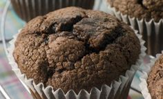 Cranberry chocolate muffins